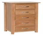 york oak 5 drawer wellington
